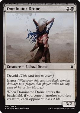 《威圧ドローン/Dominator Drone》[BFZ] 黒C
