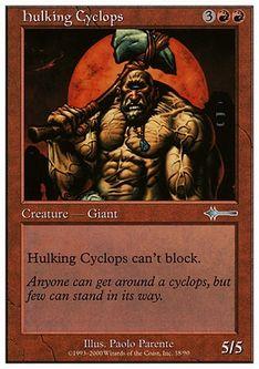 《巨体のサイクロプス/Hulking Cyclops》[BTD] 赤