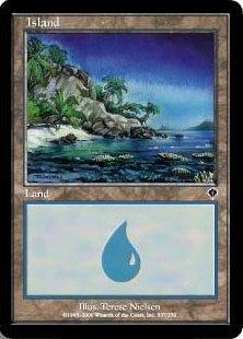 【Foil】《島/Island》(337)[INV] 土地