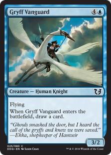 《グリフの先兵/Gryff Vanguard》[BvC] 青C
