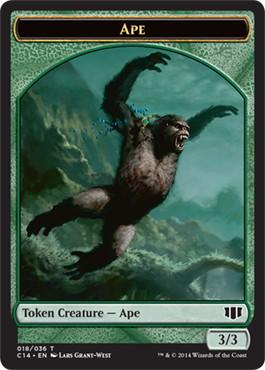 《類人猿トークン》/《ゾンビトークン》[C14] 緑/青 (018/011)