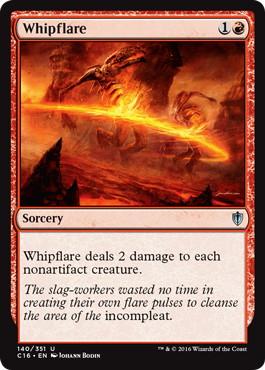 《鞭打ち炎/Whipflare》[C16] 赤U