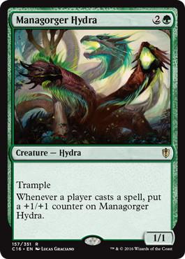 《マナ喰らいのハイドラ/Managorger Hydra》[C16] 緑R