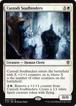 《カストーディの霊魂縛り/Custodi Soulbinders》[C16] 白R