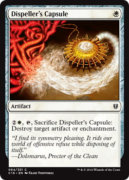 《祓い士の薬包/Dispeller's Capsule》[C16] 白C