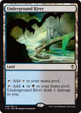 《地底の大河/Underground River》[C16] 土地R