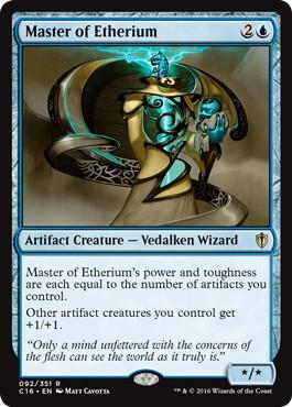 《エーテリウムの達人/Master of Etherium》[C16] 青R