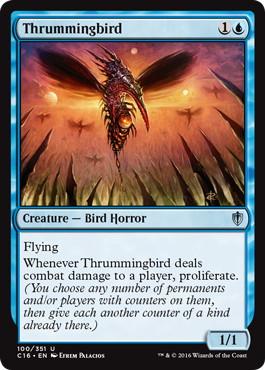 《かき鳴らし鳥/Thrummingbird》[C16] 青U