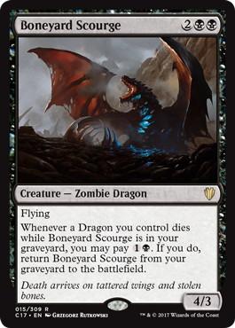 《骨塚の災い魔/Boneyard Scourge》[C17] 黒R