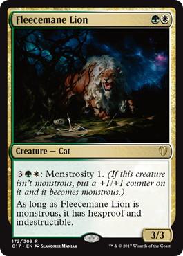 《羊毛鬣のライオン/Fleecemane Lion》[C17] 金R