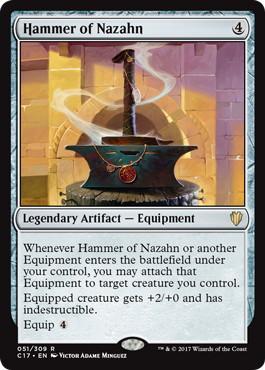 《ナザーンの槌/Hammer of Nazahn》[C17] 茶R