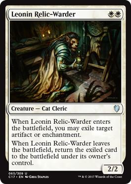 《レオニンの遺物囲い/Leonin Relic-Warder》[C17] 白U