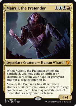 【Foil】《偽善者、メアシル/Mairsil, the Pretender》[C17] 金R