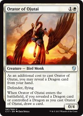 《オジュタイの語り部/Orator of Ojutai》[C17] 白U