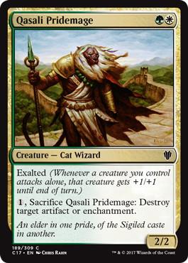 《クァーサルの群れ魔道士/Qasali Pridemage》[C17] 金C