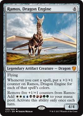 【Foil】《ドラゴン・エンジン、レイモス/Ramos, Dragon Engine》[C17] 茶R