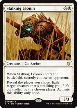 《忍び寄るレオニン/Stalking Leonin》[C17] 白R