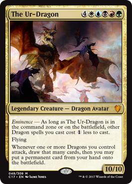 【Foil】《始祖ドラゴン/The Ur-Dragon》[C17] 金R