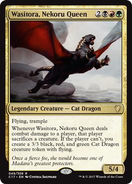 《ネコルーの女王、ワシトラ/Wasitora, Nekoru Queen》[C17] 金R