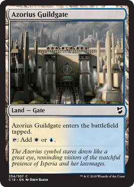 《アゾリウスのギルド門/Azorius Guildgate》[C18] 土地C