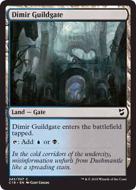 《ディミーアのギルド門/Dimir Guildgate》[C18] 土地C