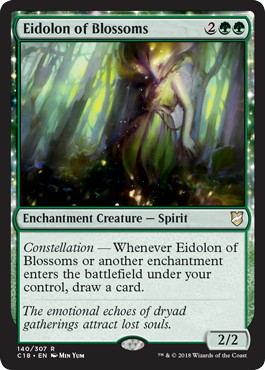 《開花の幻霊/Eidolon of Blossoms》[C18] 緑R