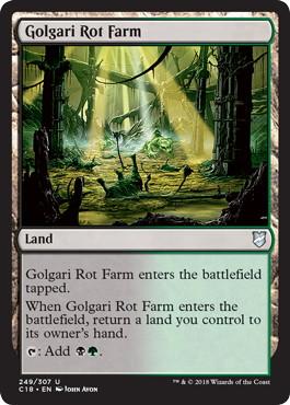 《ゴルガリの腐敗農場/Golgari Rot Farm》[C18] 土地U