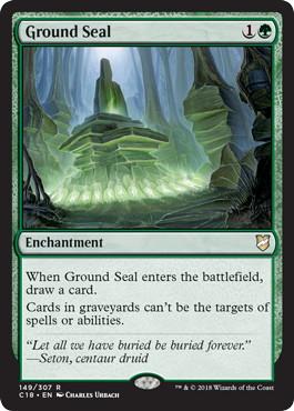《地の封印/Ground Seal》[C18] 緑R