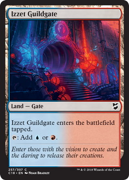 《イゼットのギルド門/Izzet Guildgate》[C18] 土地C