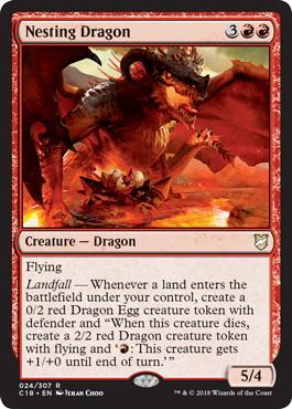 《巣ごもりドラゴン/Nesting Dragon》[C18] 赤R