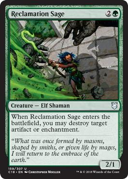 《再利用の賢者/Reclamation Sage》[C18] 緑U