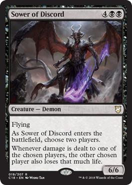 《不和蒔き/Sower of Discord》[C18] 黒R