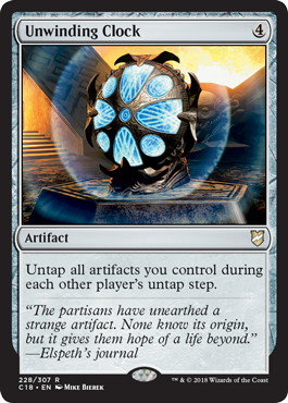 《巻き戻しの時計/Unwinding Clock》[C18] 茶R