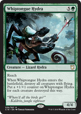 《舌長ハイドラ/Whiptongue Hydra》[C18] 緑R