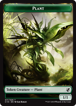 《植物トークン/変異トークン(017/027)》[C19]緑/無