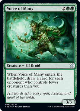 《数多の声/Voice of Many》[C19]緑U