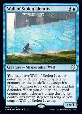 《なりすましの壁/Wall of Stolen Identity》[C19]青R