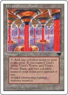 《ウルザの魔力炉/Urza's Power Plant》A Pillar[CHR] 土地U