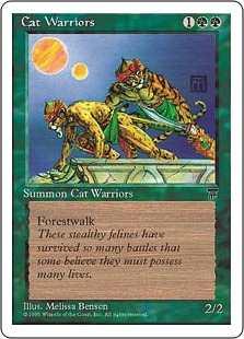 《猫族の戦士/Cat Warriors》[CHR] 緑C