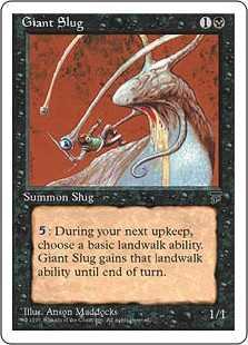 【黒枠】《大ナメクジ/Giant Slug》[CHR][BB] 黒C
