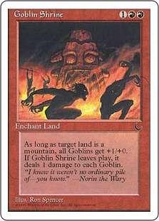 《ゴブリンの祭殿/Goblin Shrine》[CHR] 赤C