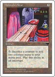 【黒枠】《アシュノッドの供犠台/Ashnod's Altar》[CHR][BB] 茶C