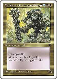 【黒枠】《沼地の王ソルカナー/Sol'kanar the Swamp King》[CHR][BB] 金R