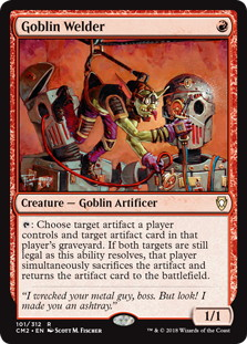 《ゴブリンの溶接工/Goblin Welder》[CM2] 赤R
