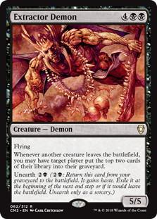 《絞り取る悪魔/Extractor Demon》[CM2] 黒R