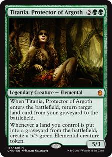 《アルゴスの庇護者、ティタニア/Titania, Protector of Argoth》[CMA17] 緑R