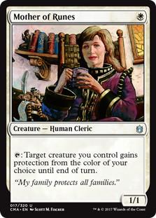 《ルーンの母/Mother of Runes》[CMA17] 白U
