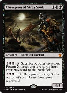 《彷徨える魂の勇者/Champion of Stray Souls》[CMA17] 黒R
