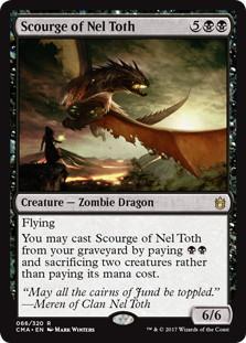 《ネル・トースの災い魔/Scourge of Nel Toth》[CMA17] 黒R