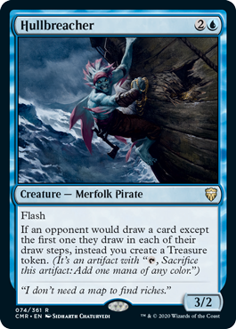 【Foil】《船殻破り/Hullbreacher》[CMR] 青R